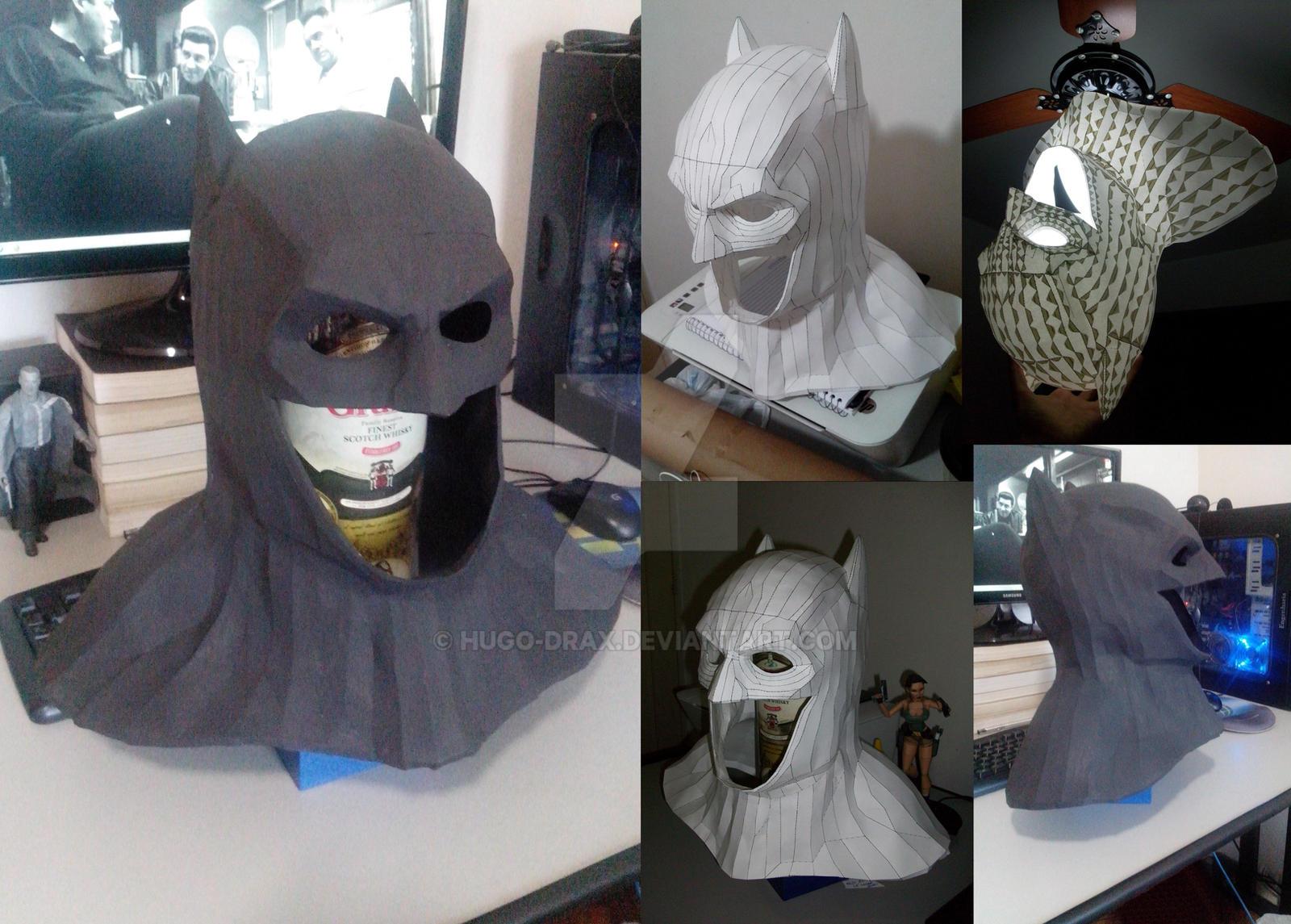 bvs dawn of justice batman papercraft cowl by hugo drax on deviantart