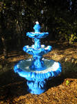 Blue Fountain: Afternoon Stock