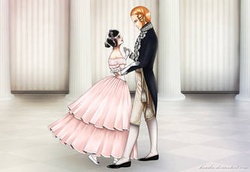 Rukia and Ichigo as Victoria and Albert by KaSaKu