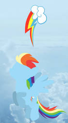 Rainbow Dash Background by Thunder-Blur