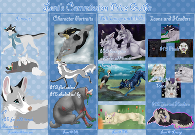 Commission Price Guide by Lani