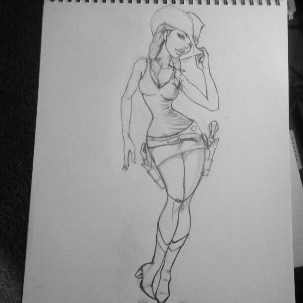 sexy western sketches