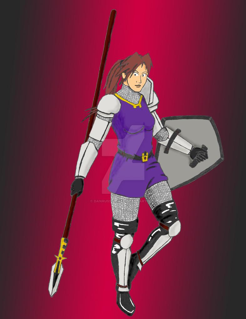 Female Knight by DanRussell93