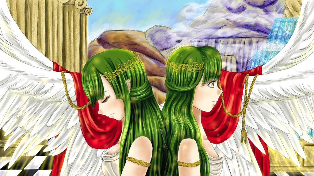 Teresa and Clare by HarajukuLolita