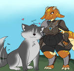 Comm: Auglinde and Sir Puppington