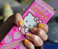 Pikachu nails by Lintsi