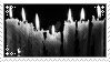 bw candles stamp 2 by r0senr0tten
