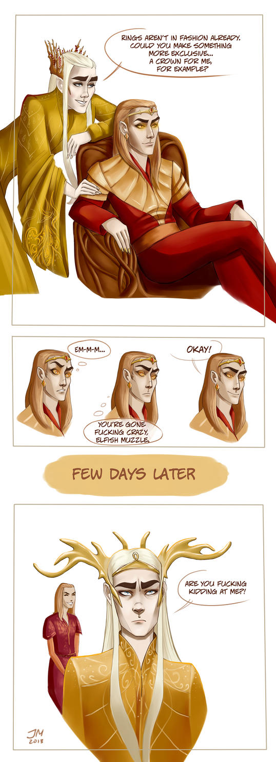New thranduil's crown by JennieMaher