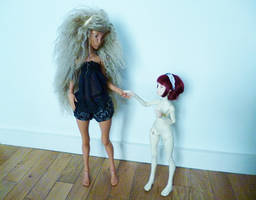 Cerisedolls Lyse and Ombre // Raphaelle and Zoe by Riona-la-crevette