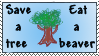 Save a tree,eat a beaver stamp by Riona-la-crevette