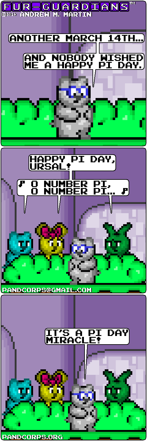 Furry Funny, Pi Day 2016 by pandcorps