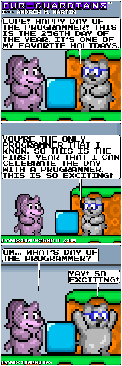 Furry Funny, Day of the Programmer 2016 by pandcorps