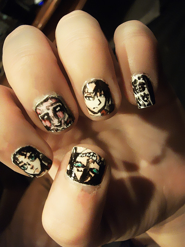 Attack on titan nail art by ToxicMiyoko on DeviantArt