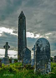 Kilmacduagh Monastery Tower by Jim52-Photoworks