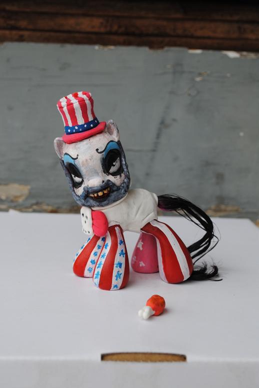 Little Pony Captain Spaulding by Tat2ood-Monster