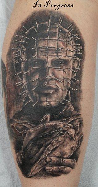 Pinhead tattoo by Tat2ood-Monster