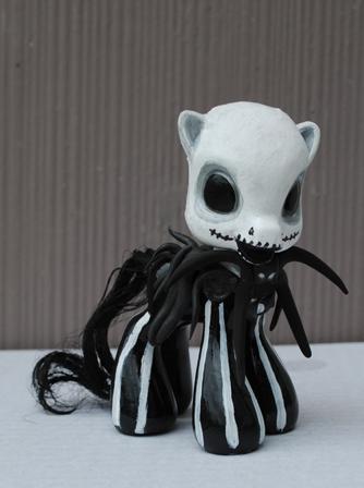Little Pony Jack Skellington by Tat2ood-Monster