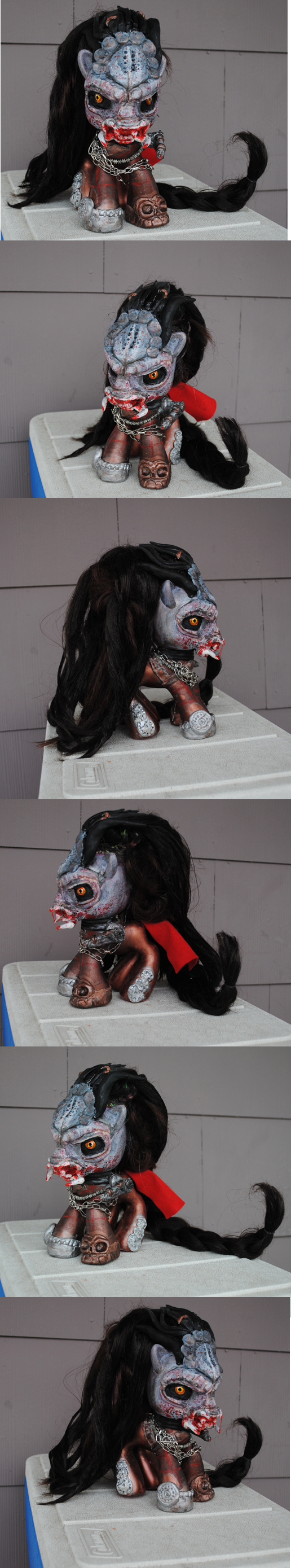My little pony Predator 2 by Tat2ood-Monster