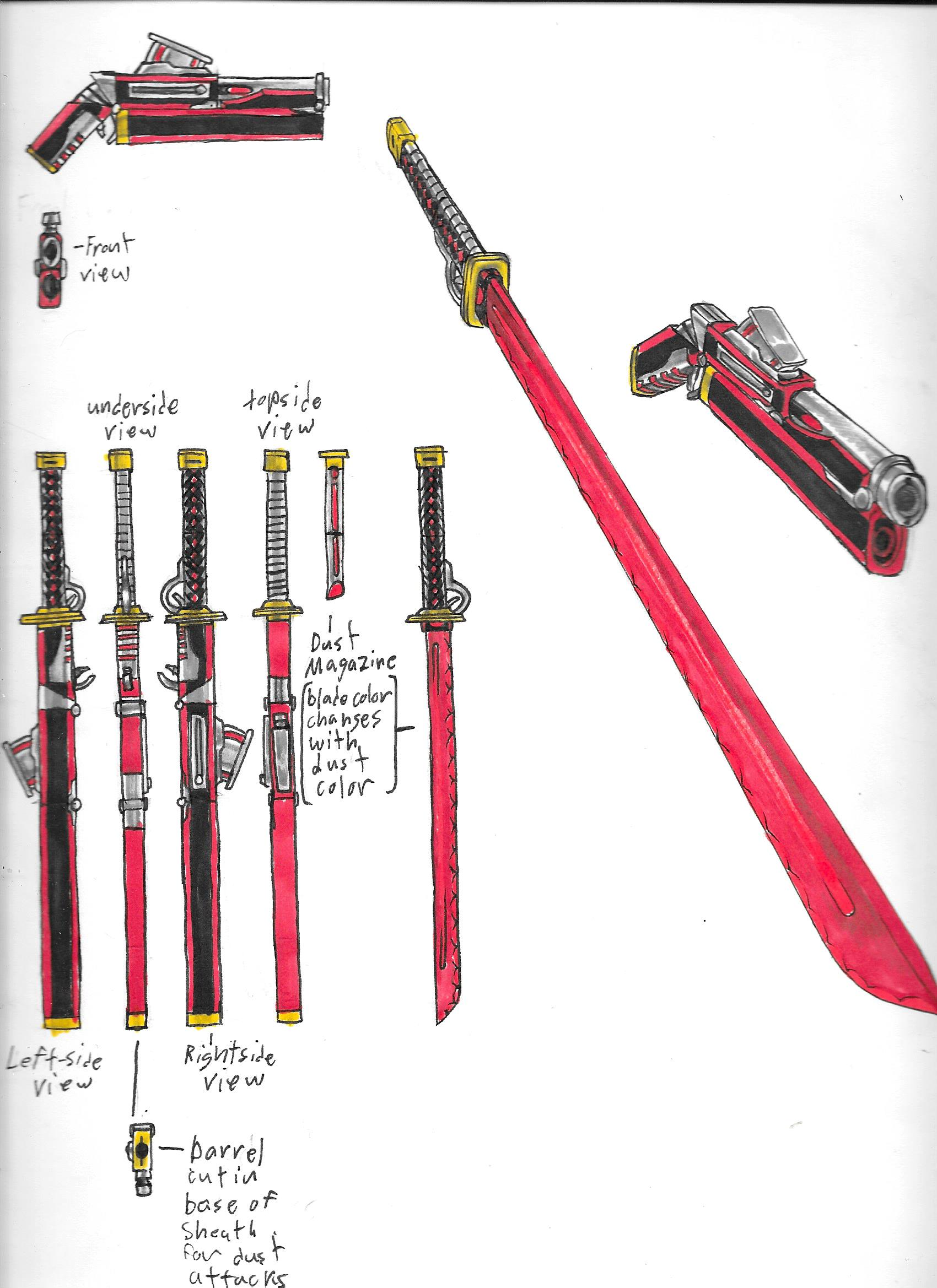 Rwby Weapon Diagram By Brothercaptain Steve On Deviantart