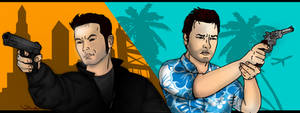 Grand Theft Auto: Claude and Tommy by claude4ev3r