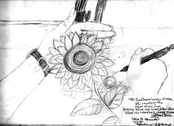 Sunflower-SelfPortrait by val-chan