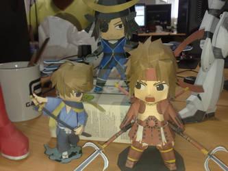 papercraft samurai
