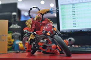 Iron Man on motorcycle