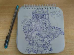 KNOX hand drawing