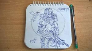 Creeper Hand Drawing