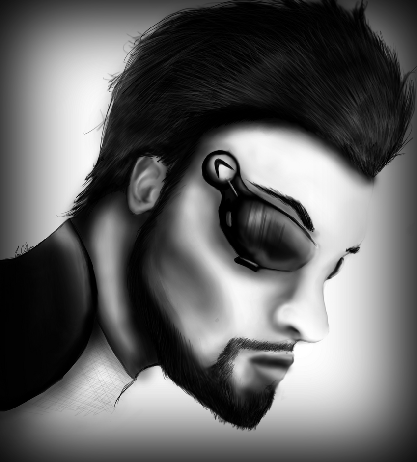Adam Jensen by HeartsandMachineGuns