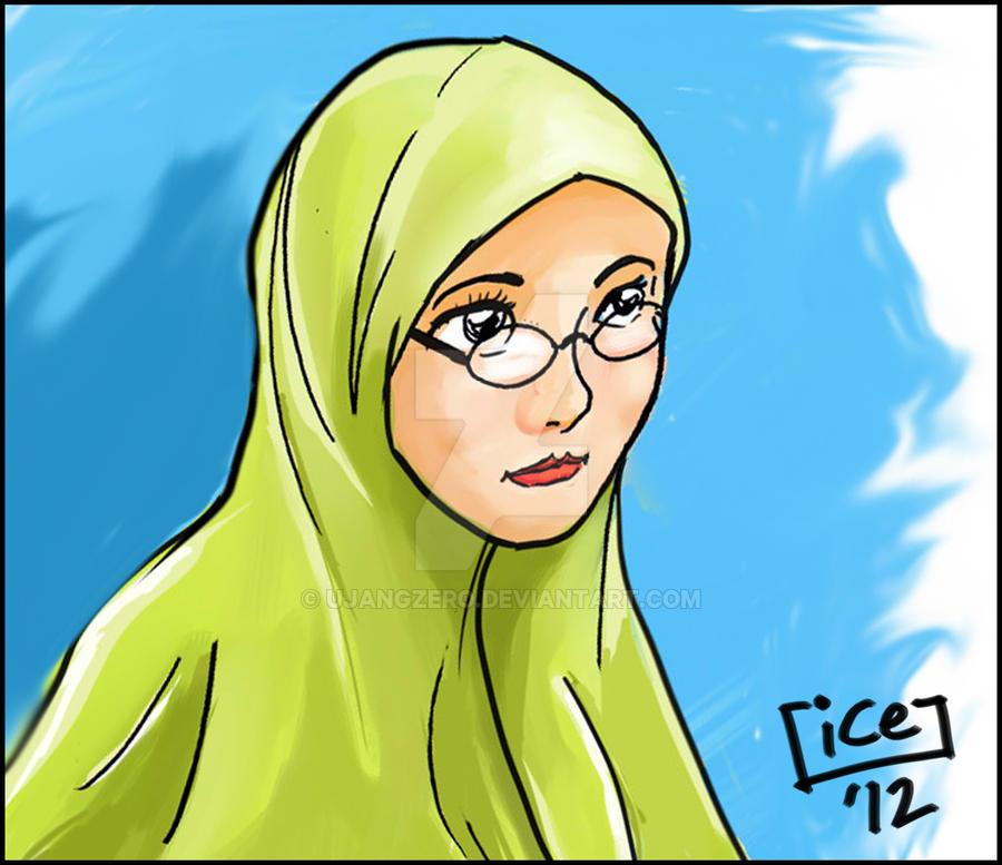 Green Scarfed Girl by ujangzero