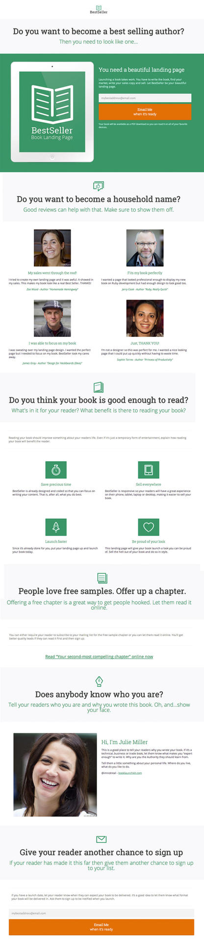 BestSeller Book Landing Page by 723media