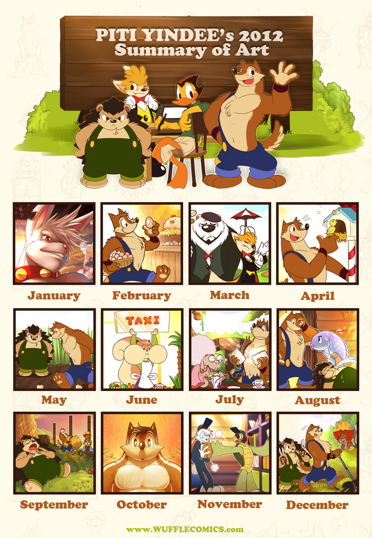 Piti Yindee's 2012 Art Summary by PitiYindee