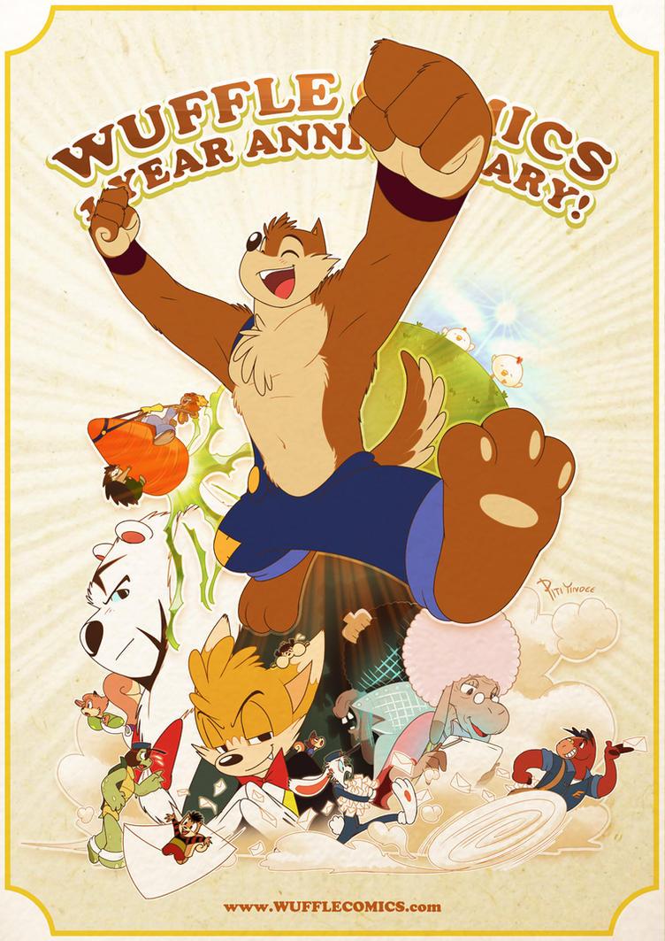 Wuffle : 1 Year Anniversary by PitiYindee