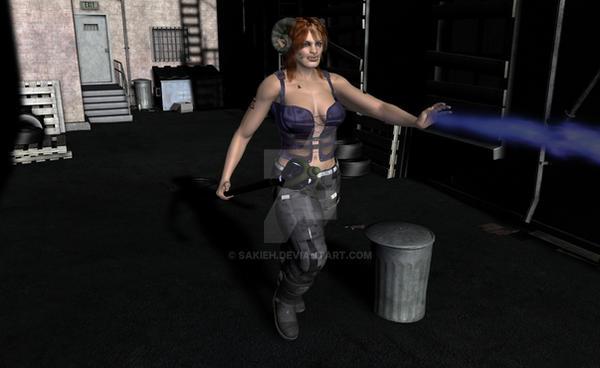 Shadowrun Troll in Alley