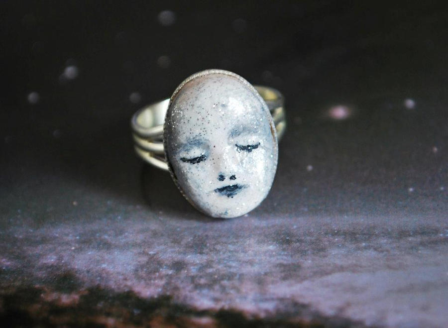 Man in the Moon Ring by LouiseValerie