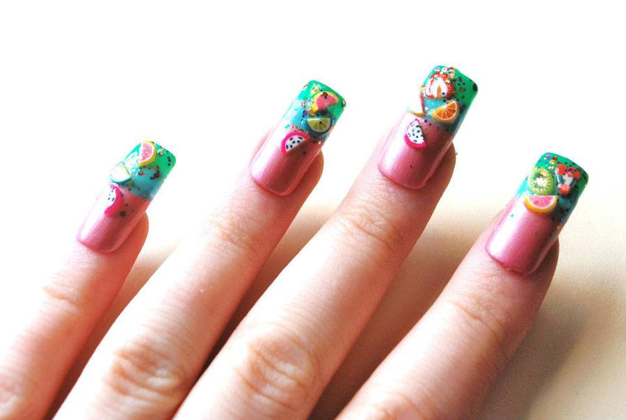 Tropical Punch Nails by LouiseValerie