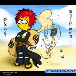 Gaara Simpson by TetraGyom