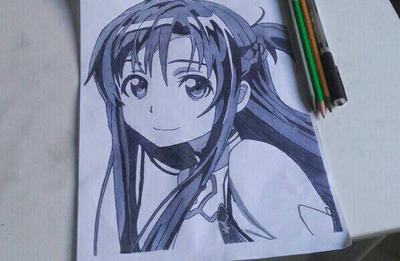 asuna drawing :) by nathanwijn