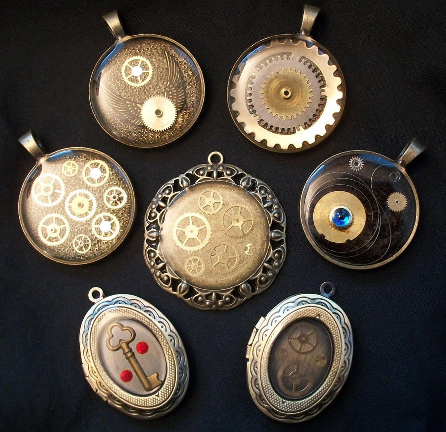 More steampunk resin pendants by epiquemetalworx on deviantart more steampunk resin pendants by epiquemetalworx mozeypictures Gallery