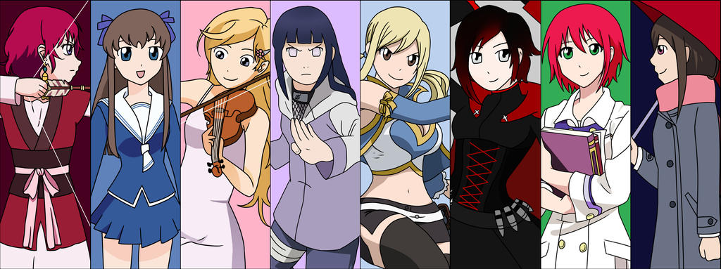 Strong Female Anime Characters By Purple Dragon57