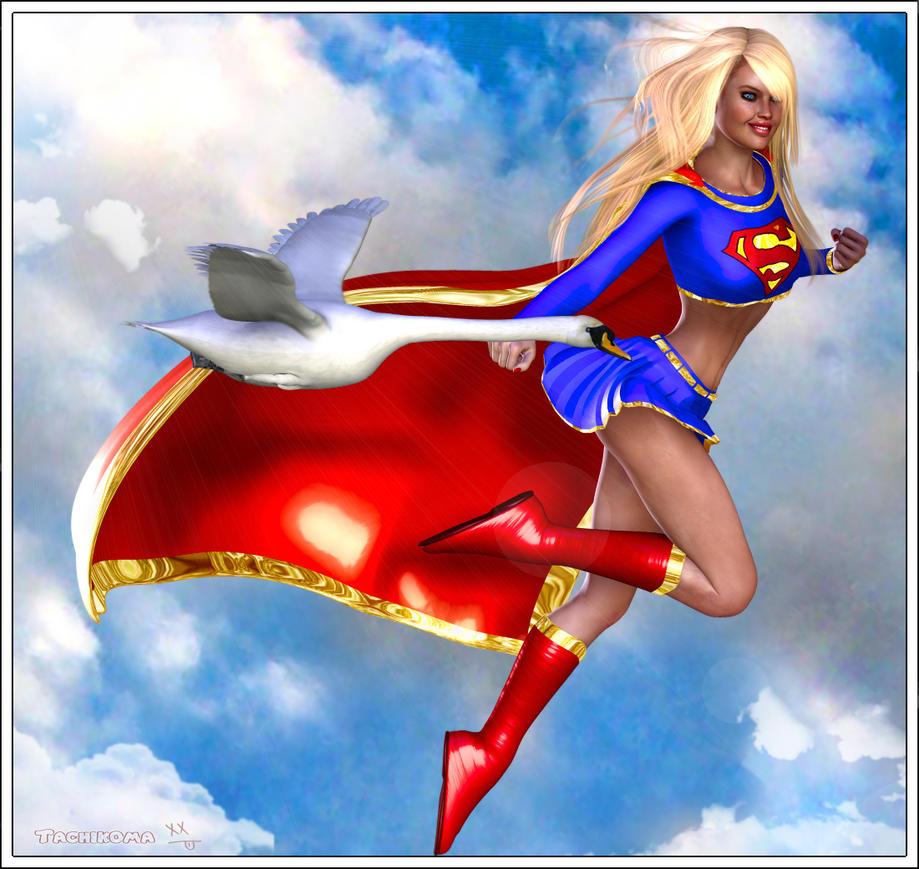 Supergirl Flying