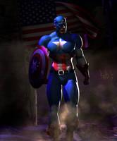 Captain America by Tachikoma-X
