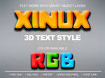 Xinux Text Effect - PSD File by Chankreative