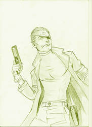 nick fury by wagnelias