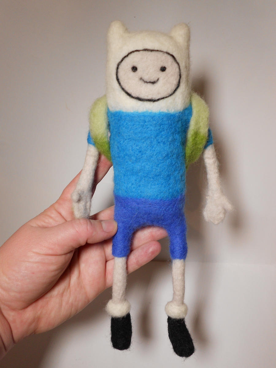 Needle Felted Finn the Human Plush by MaijaFeja