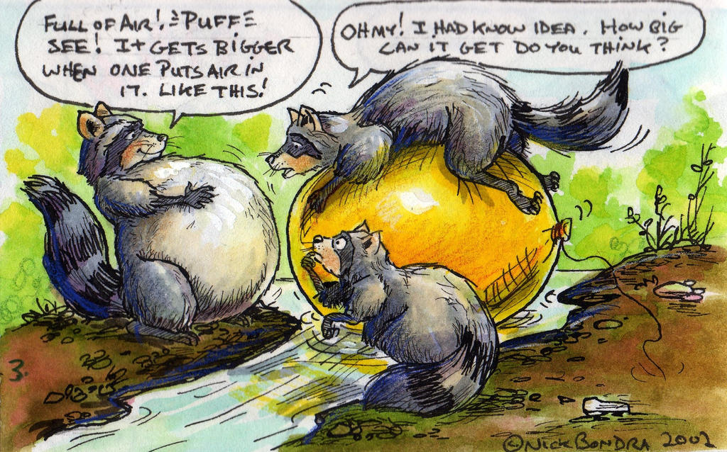 Raccoons 3 by Inflato-Phraggle on deviantART Raccoon Painting