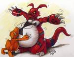 Hugging The Big Digi-Belly