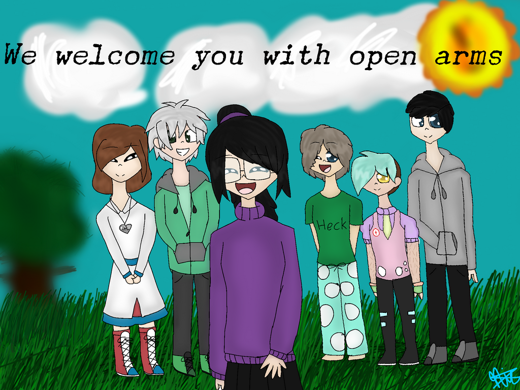We welcome you with open arms (MediBang Paint) by jhosenetteRBLX