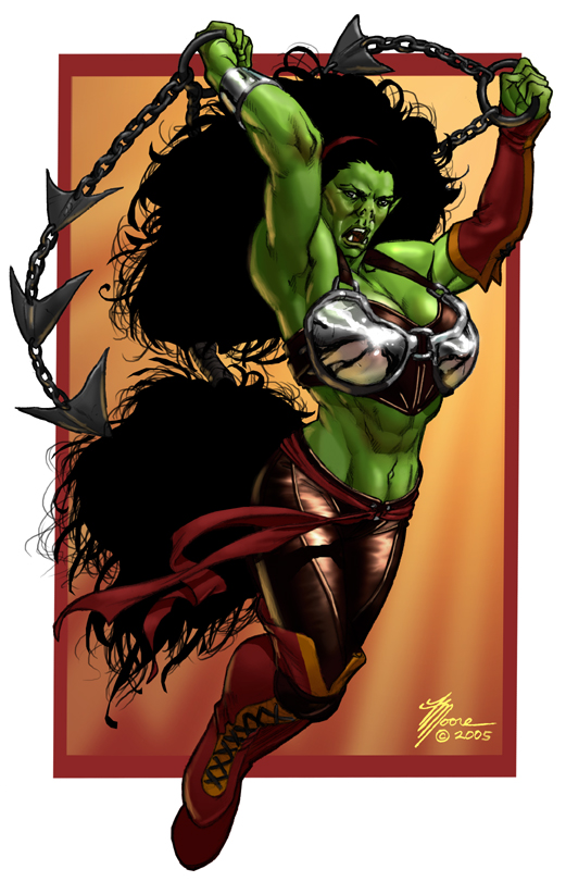 Female Orc Color by artbytravis